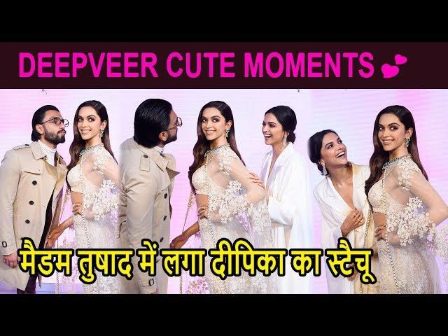 Ranveer Singh & Deepika Padukone के CUTE MOMENTS 😍|Madame Tussauds