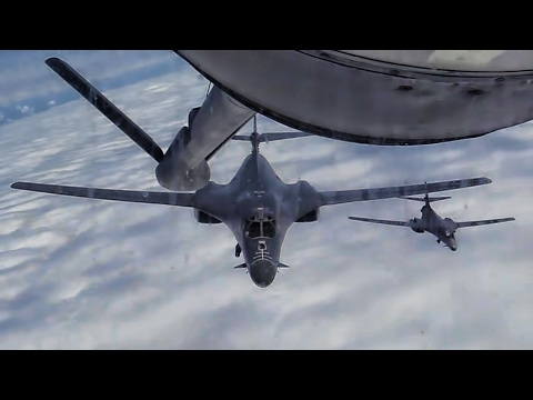 U.S. Air Force Combat Aircraft Aerial Refueling With Comms