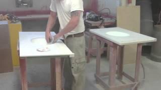 Производство столешниц из искусственного камня в ванную комнату(Процесс производства столешницы из искусственного камня в ванную комнату. Наша компания изготавливает:..., 2016-04-01T14:43:59.000Z)