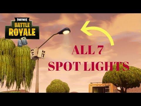 Fortnite - Dance Under Different Street Light Spotlights CHALLENGE - ALL 7 SPOT LIGHTS