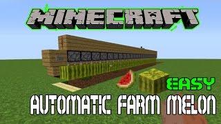 CARA MEMBUAT AUTOMATIC FARM MELON - MINECRAFT TUTORIAL