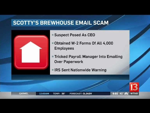 Scottys Brewhouse email scam