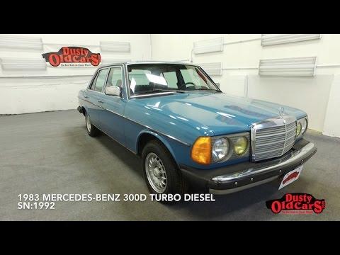 DustyOldCars 1983 Mercedes-Benz 300D Turbo Diesel With Veggie Power