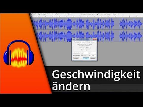 Audacity Tutorial   Geschwindigkeit ändern [Deutsch/HD]