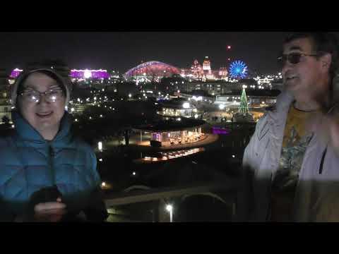 Наш корпоратив Новый год 2020 в двухкомнатном номере люкс Сочи Парк отеля -  вид на Олимпицский парк