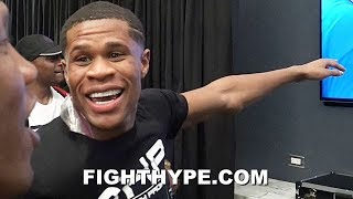 DEVIN HANEY WATCHES KSI BEAT LOGAN PAUL IN DRESSING ROOM; IMMEDIATE REACTION WITH ZAB JUDAH