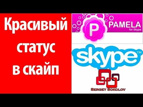 Как сделать красивый статус в скайп . Статус в skype мигающий Pamela for Skype ( Sergey Sokolov )