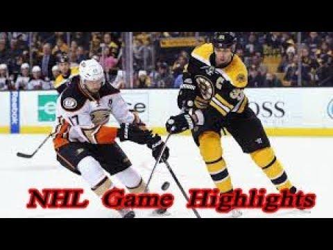 Boston Bruins Vs Anaheim Ducks 20 12 Nhl Highlights