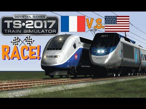Train Simulator 2017  Acela Express V.S. TGV Duplex Race!