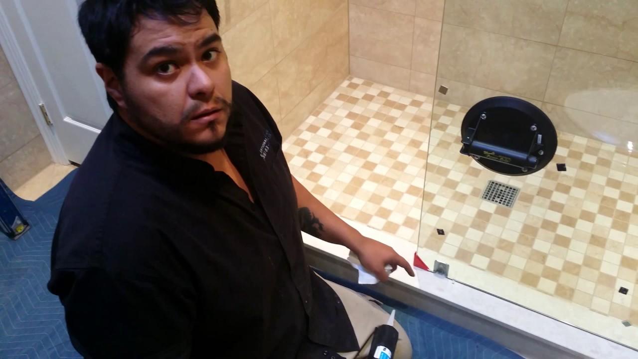 Frameless shower door seal youtube frameless shower door seal vtopaller Gallery