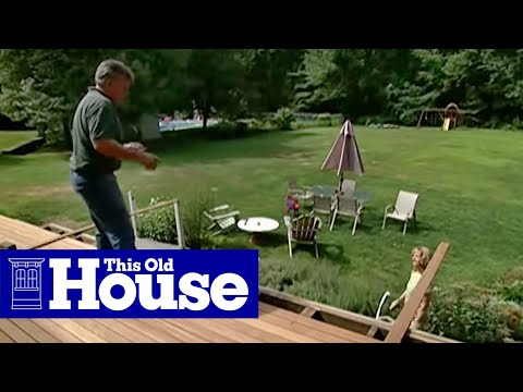 How to Pour a Concrete Deck Footing - This Old House - YouTube