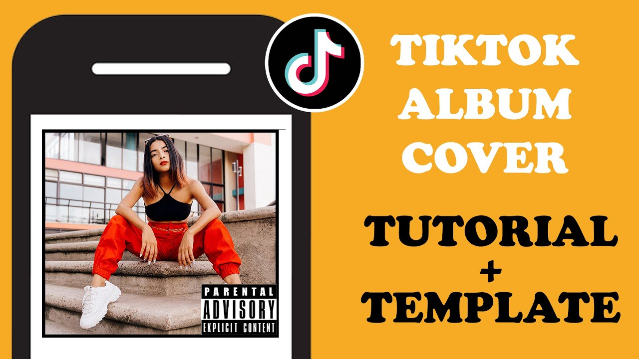 How To Do The Tiktok Album Cover Challenge 3 Easy Steps Template Youtube