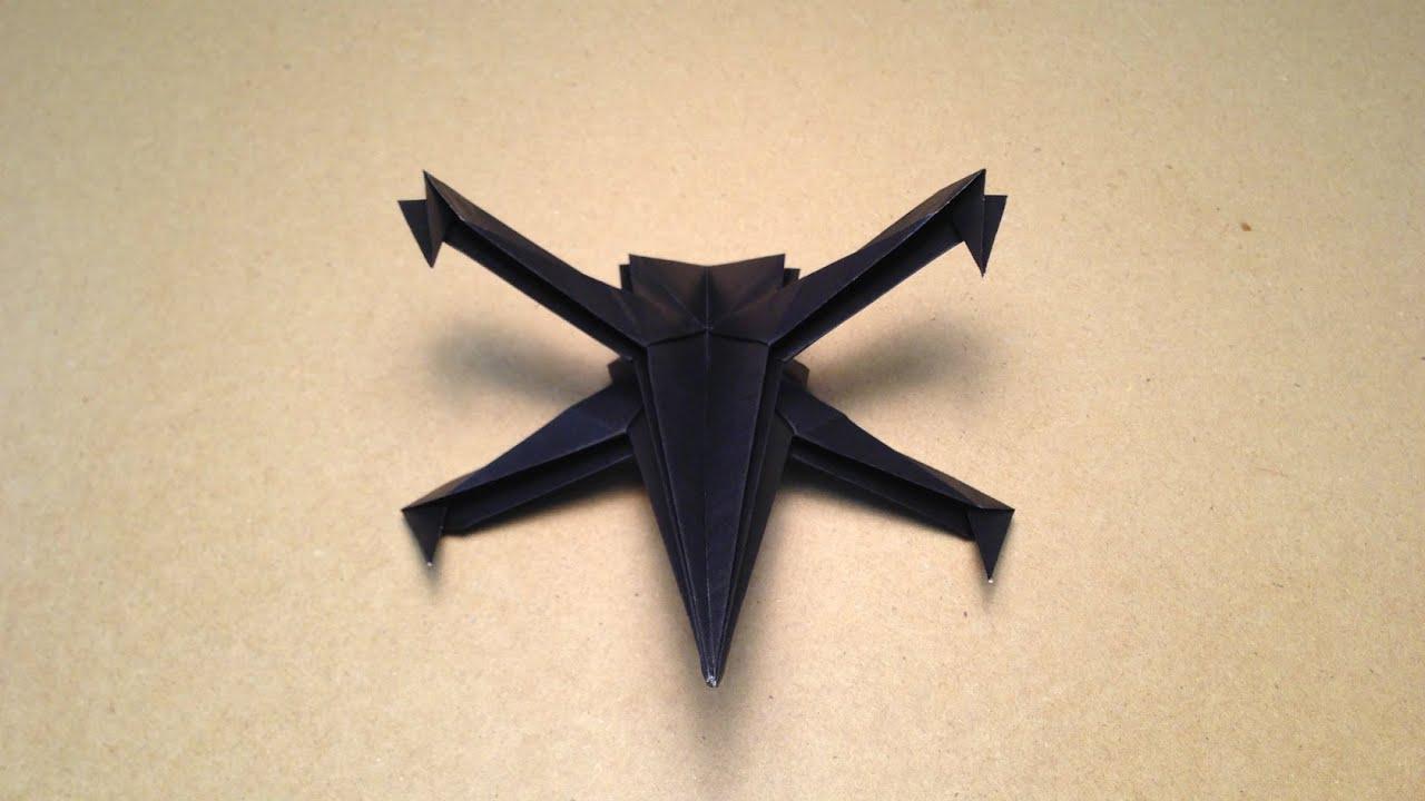 【折り紙(おりがみ)】 飛行機 スター・ウォーズ X,Wingの折り方 作り方 , YouTube