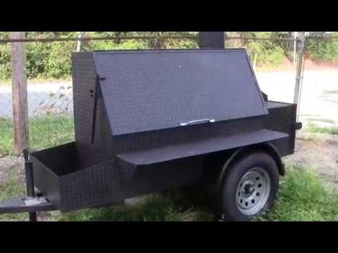 BBQ Smoker Catering Grill Football Tailgate Party Trailer FOR SALE Smoker BBQ Pit Rentals