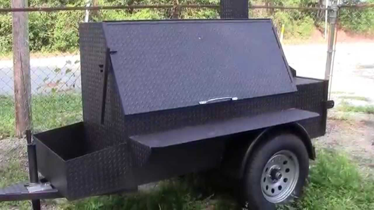 Bbq Smoker Catering Grill Football Tailgate Party Trailer