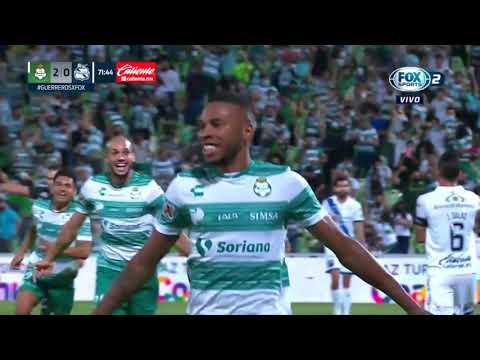 Gol de A. Preciado   Santos 3-0 Puebla   Liga BBVA MX - Guard1anes 2021 - Semifinal IDA