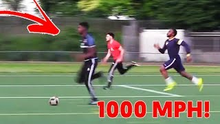 kid runs at 1000mph in football match, what happens next is impossible