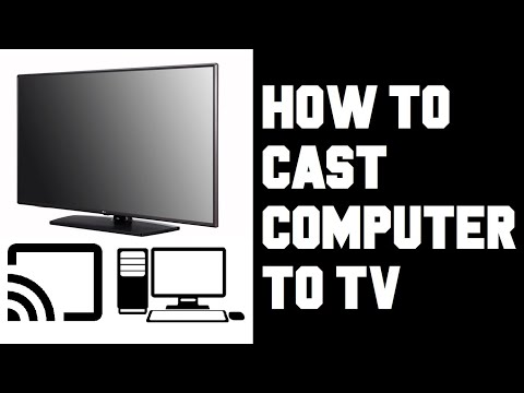 How To Cast Computer To TV - How To Cast Your PC To Your TV - Screen Mirror PC Windows 10 To TV