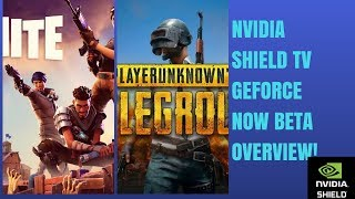 NVIDIA SHIELD TV GEFORCE NOW BETA OVERVIEW!(AAA PC GAMES ON SHIELD TV)