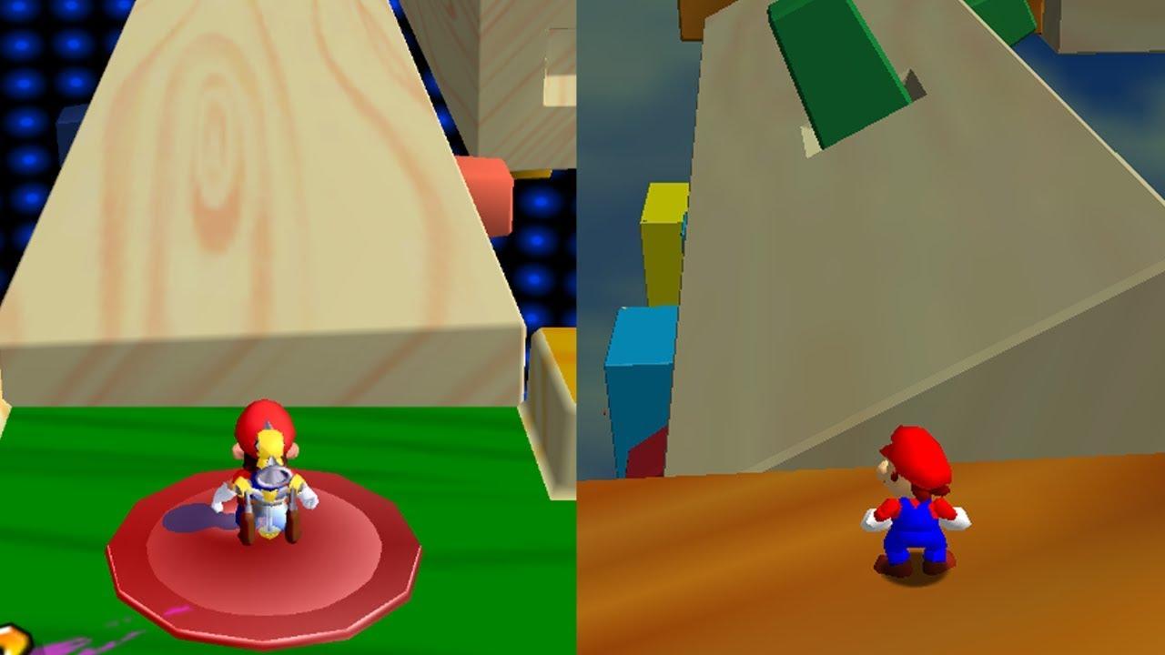 Super Mario 64 but it's Mario Sunshine Levels
