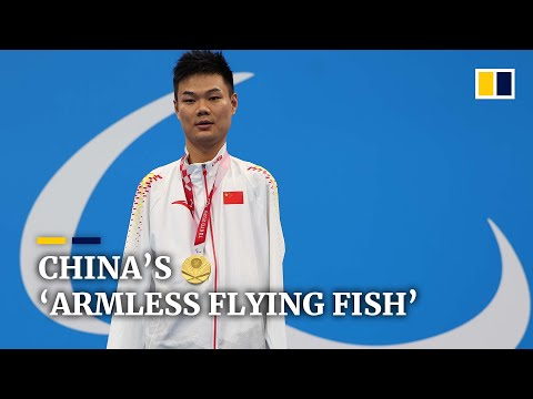 Chinese swimmer with no arms earns four record-breaking gold medals at Tokyo Paralympics