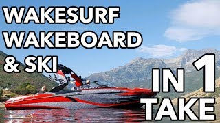 Wakesurf, Wakeboard and Ski in 5 Minutes! w/ 2018 Centurion Boats