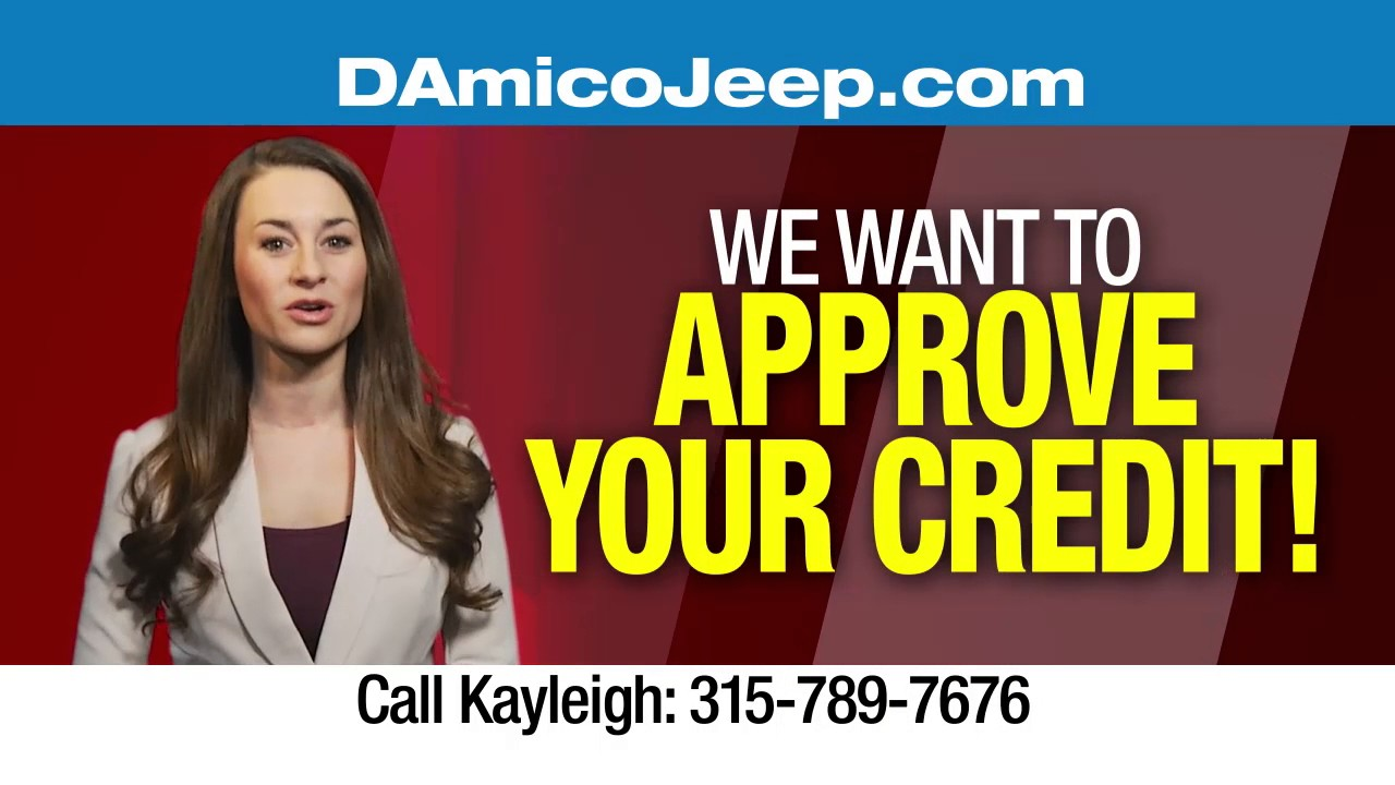 Need a Car or Need Credit? D'Amico Chrysler Dodge Jeep RAM wants to