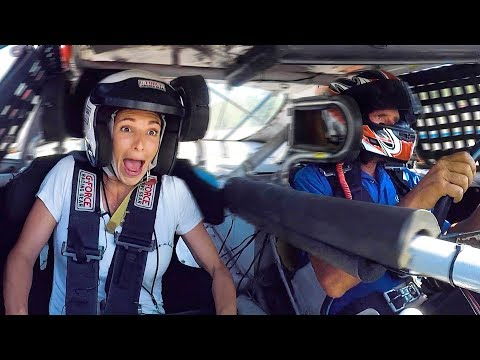 Nascar Driver Lets Wife Ride Along In A Race
