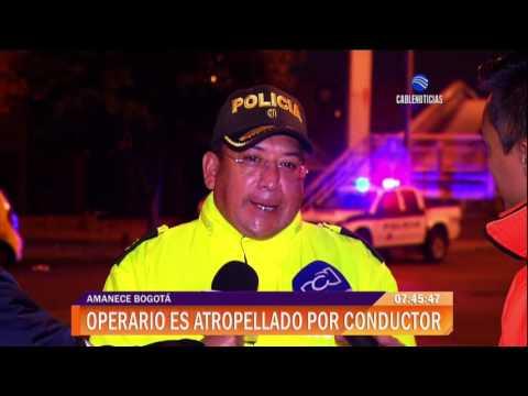 Motociclista atropelló a funcionario de aseo en el norte de Bogotá