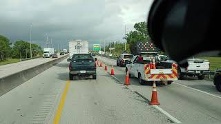 Big rig double accident on Florida's Turnpike