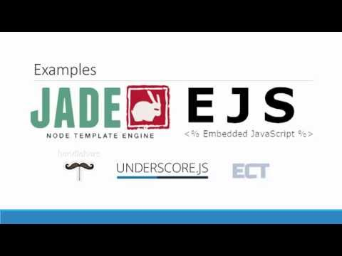 What Is A Template Engines? (Jade & EJS)