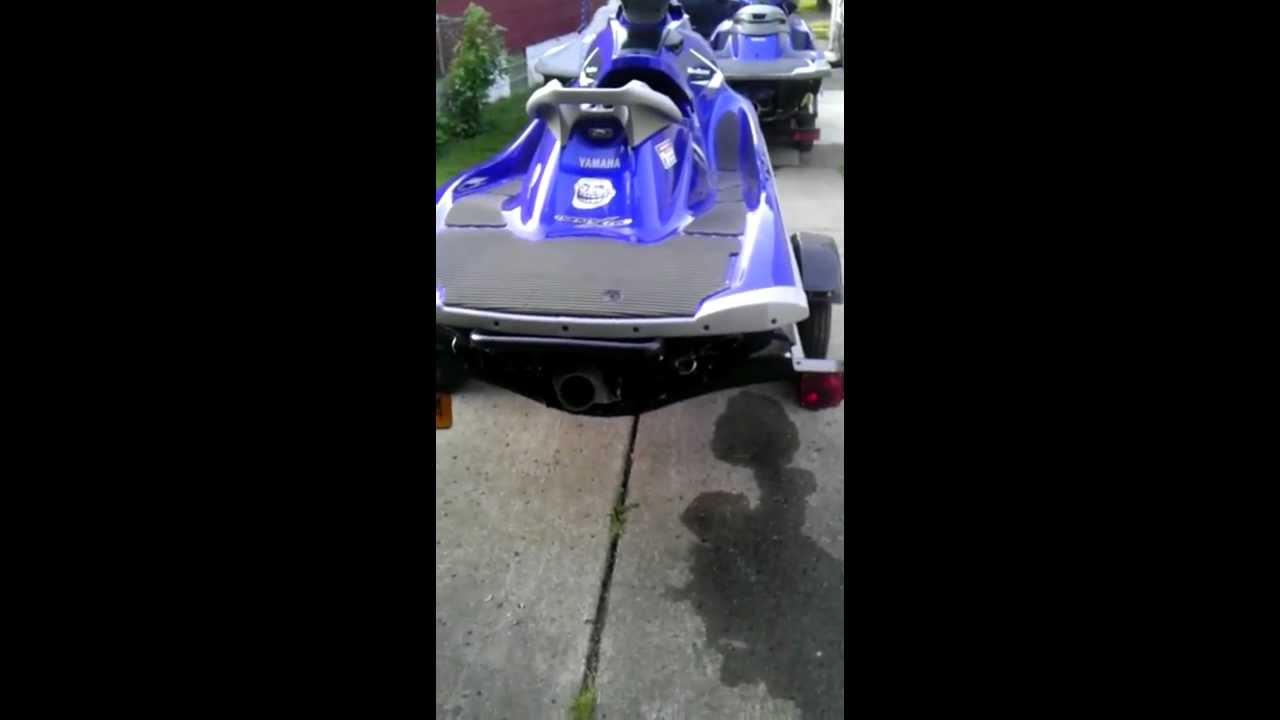 2011 Yamaha VXR riva thru hull exhaust, Riva waterbox, RD R3 reflash