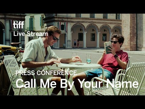 CALL ME BY YOUR NAME Press Conference   Festival 2017