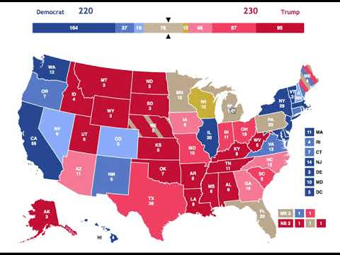 What the Electoral Map Looks like for Trump in the 2020 Election