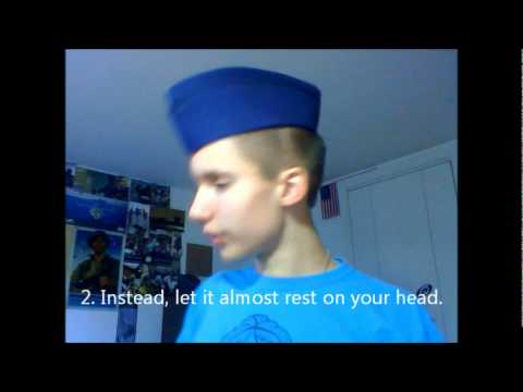 How To Wear An Afjrotc Garrison Cap Properly Youtube