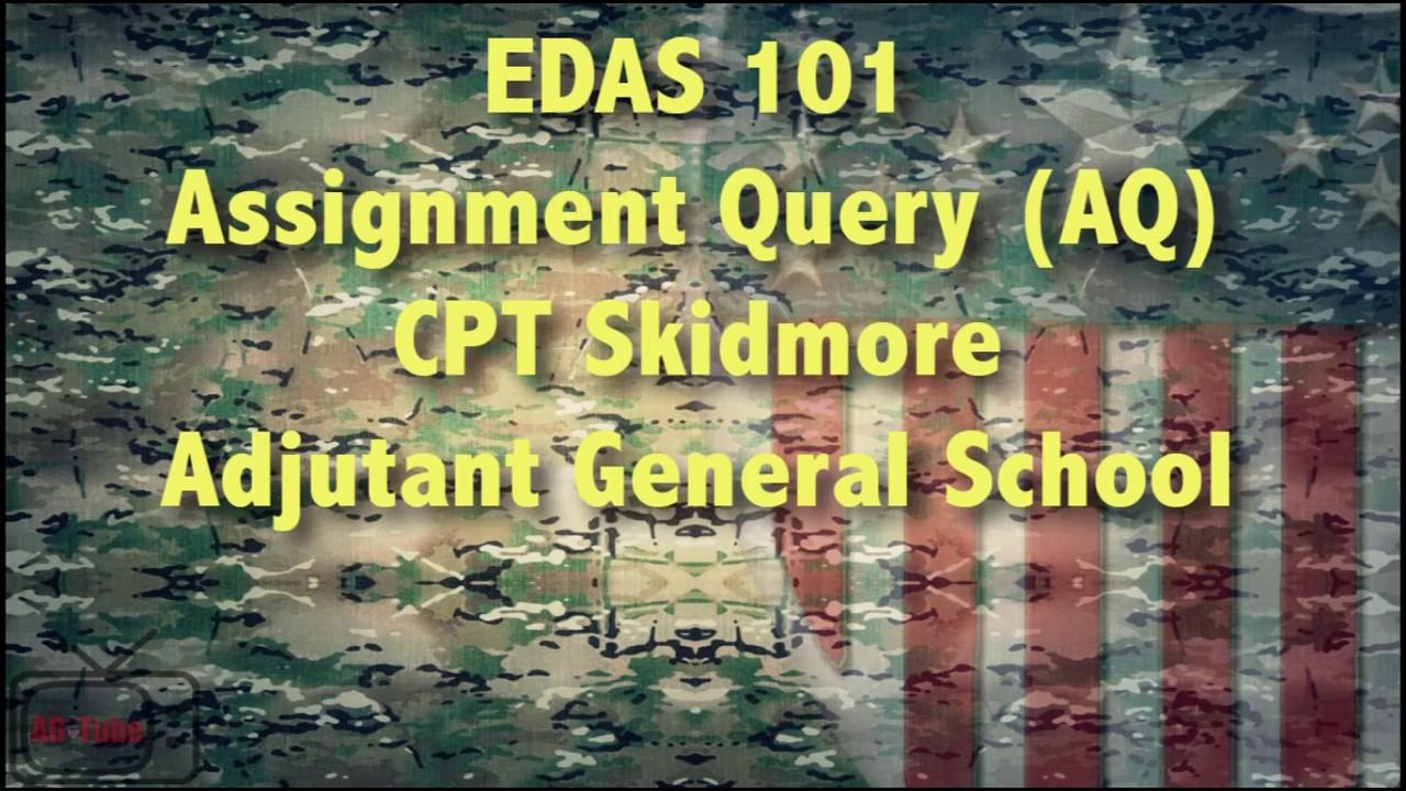 army edas codes