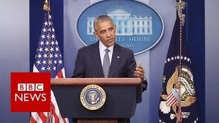 Barack Obama  'Nobody said democracy's supposed to be easy' BBC News
