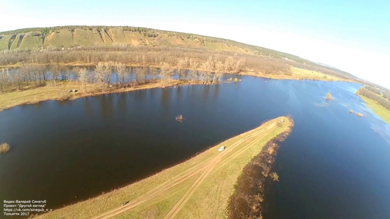 Разлив Купринки и озера в поселке Федоровка Тольятти весной 2017