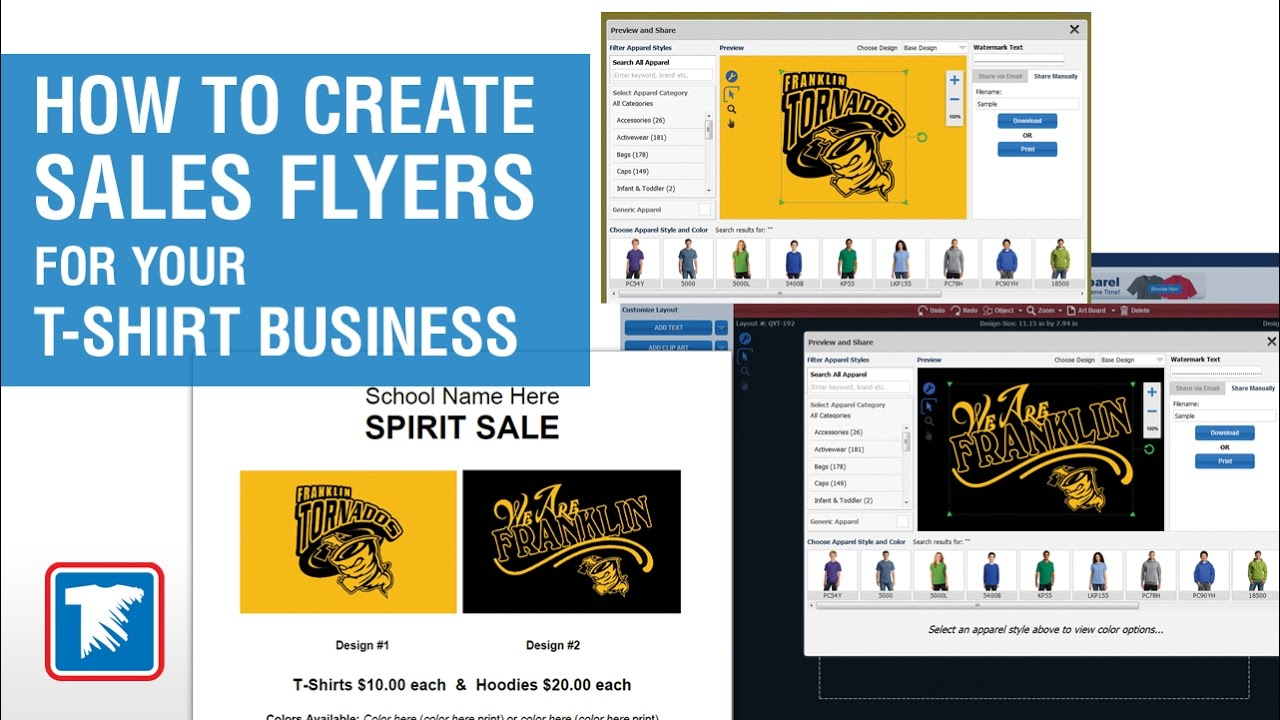 How To Create Sales Flyers For Your T Shirt Business Youtube