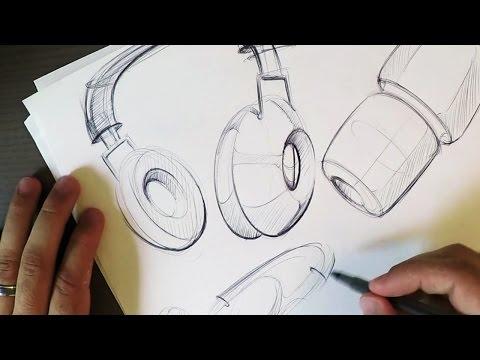 Let's Sketch Headphones! (Start BIG)