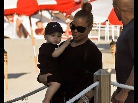 Janet Jackson's Baby Son Eissa's, looks like his father! - YouTube