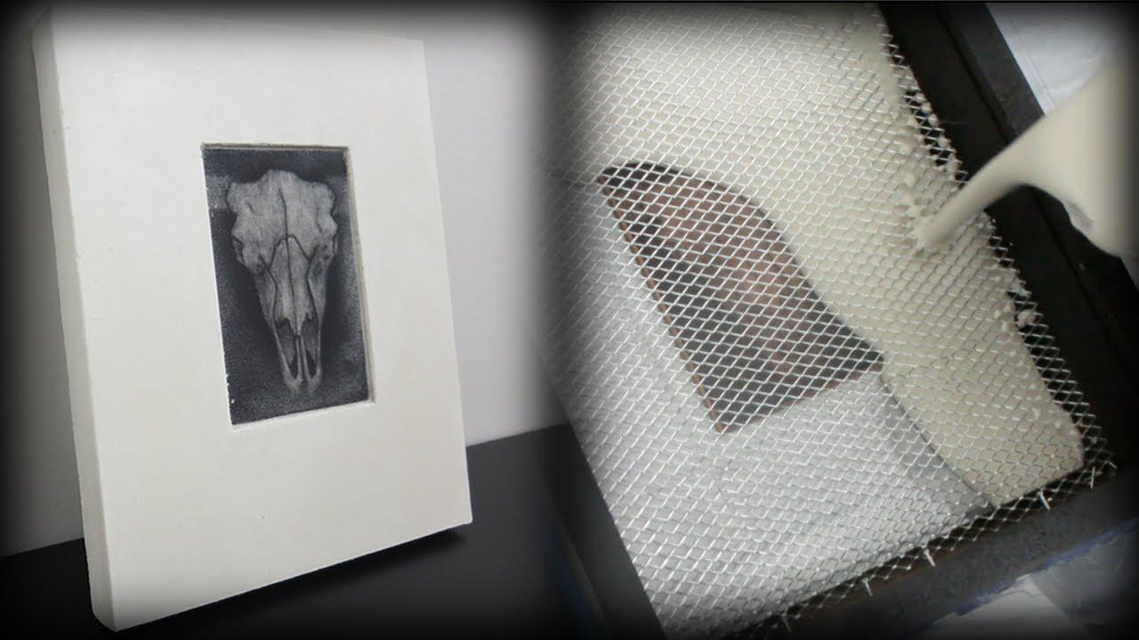 printmaking using plaster of paris no press or paper. Black Bedroom Furniture Sets. Home Design Ideas