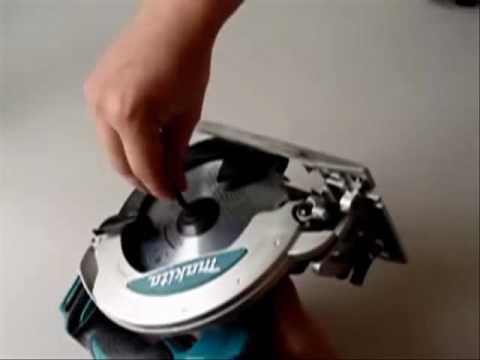 Cambiar la hoja de corte de la sierra circular makita - Sierra de corte circular ...
