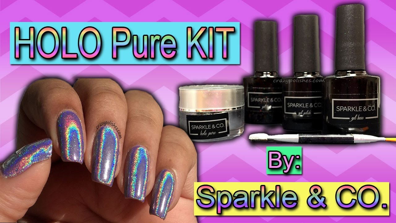 Holographic Powder: Ez Dip Nails Deluxe Holo Pure Kit Review - YouTube