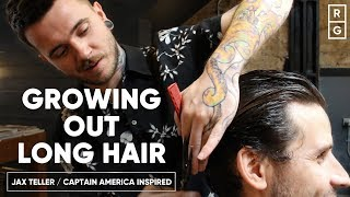 How To Grow Out Long Hair Like The Jax Teller or Captain America Hairstyles