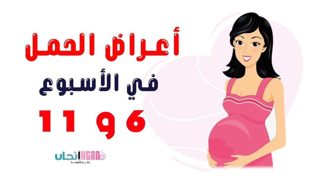 أعراض الحمل من الأسبوع 6 وحتى الأسبوع 11 Youtube