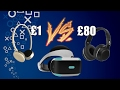 £1 VS £80 Headphones For Playstation VR