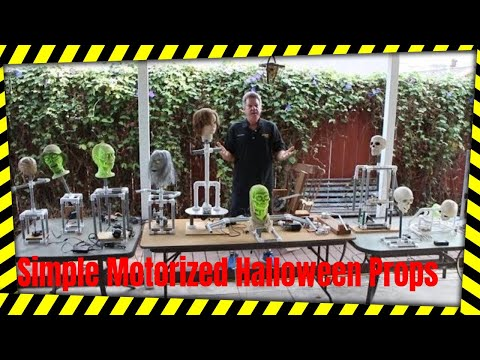 Simple Motorized Halloween Props