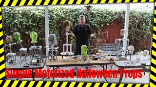 Simple Motorized Halloween Props