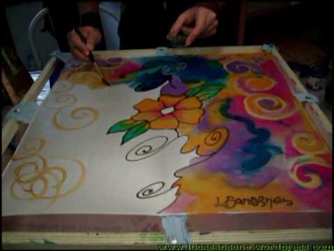 Silk Painting Luca Sansone Flower On Silk Youtube
